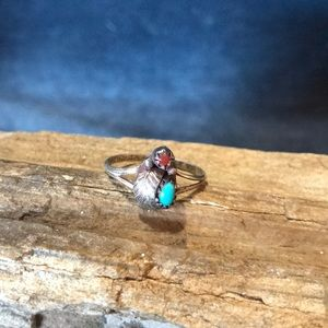 Jewelry - Native American Sterling Ring With Turquoise